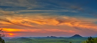 Sunset at Maumelle Valley and Pinnacle mountain | by Paul2660-1