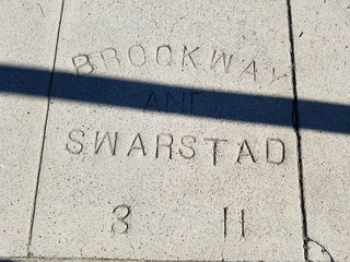 Sidewalk Marker - Brockway & Swarstad - March 1911