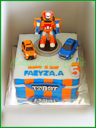 Cake Tobot FAEYZA 20cm | by KevnCealMom