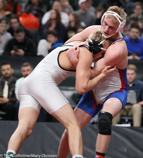 195AA 1st Place Match - Ty Moser (Perham) 46-0 won by decision over Grant Parrish (Kasson-Mantorville) 29-5 (Dec 5-1) - 190302BMC5070