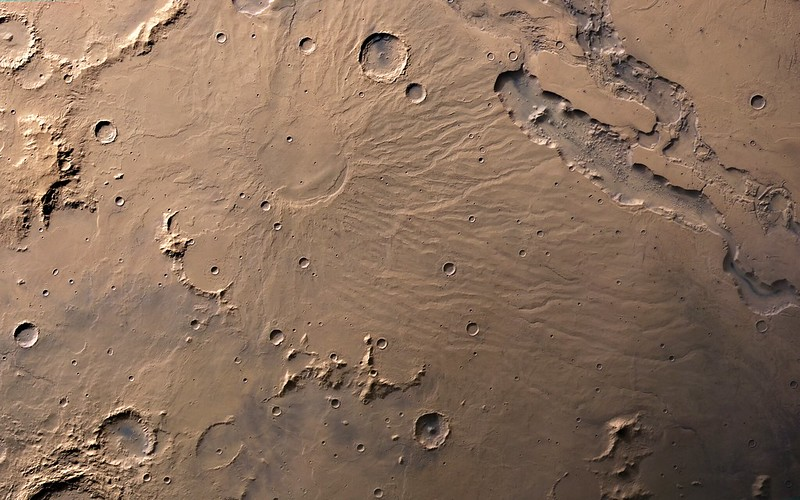 Hadriacus Mons - Mars Express HRSC