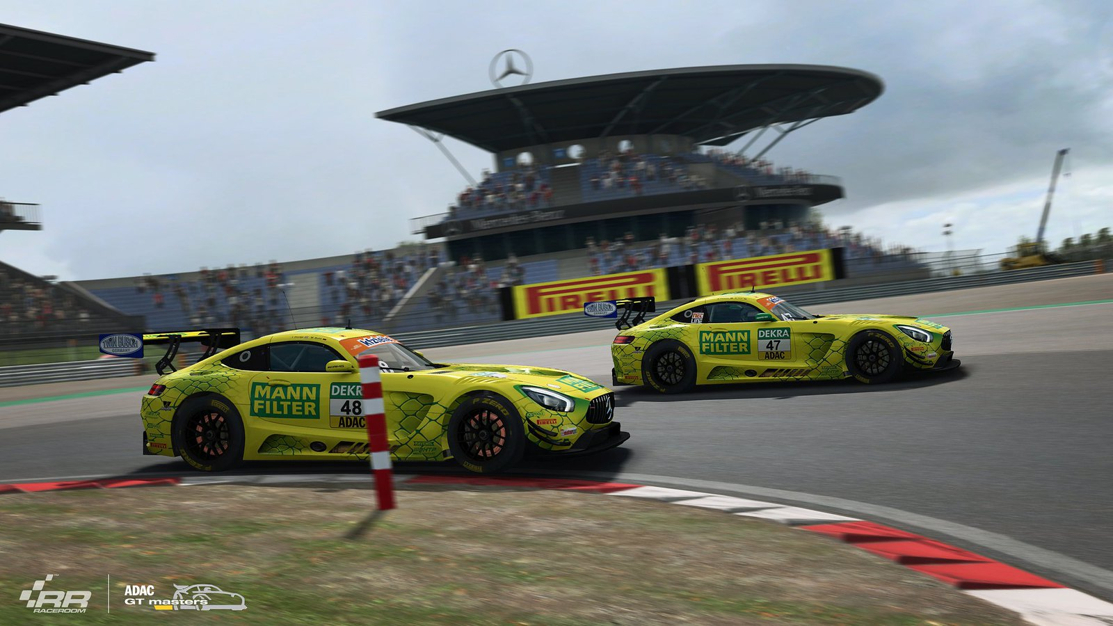 3 RaceRooom Mercedes-AMG teams of ADAC GT Masters 2018