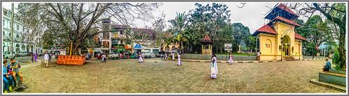 kandy srilanka landscape city square asia panorama