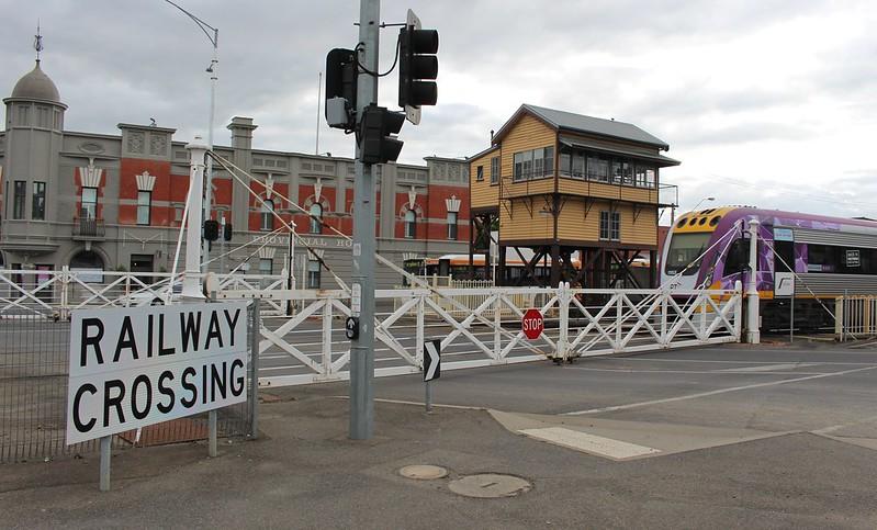 Railway gates at Ballarat station