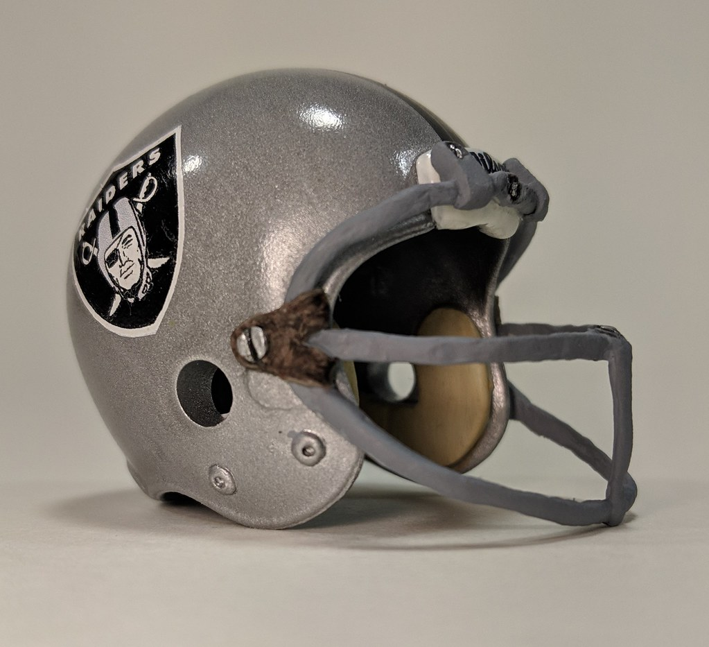 4ebfe47ac46f54 Football News: Reader Gene Sanny is back with another pencil topper helmet  (see yesterday's entry for more): a Raiders ...