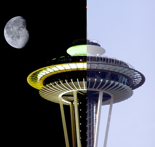 Space Needle Night and Day