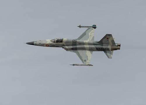 Gray Camo on a VMFT-401 F-5