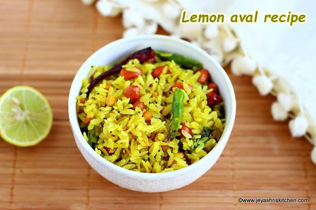 Lemon poha recipe