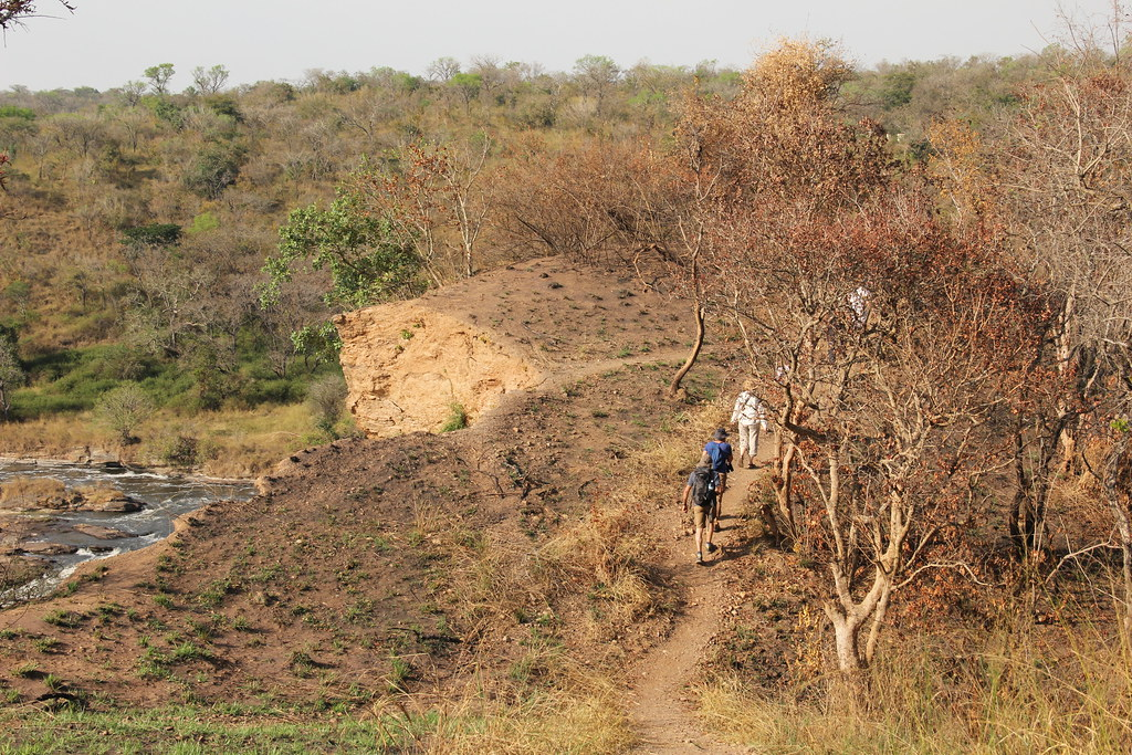 Hiking the last stretch of the trail to the Devil's Cauldron, Murchison Falls