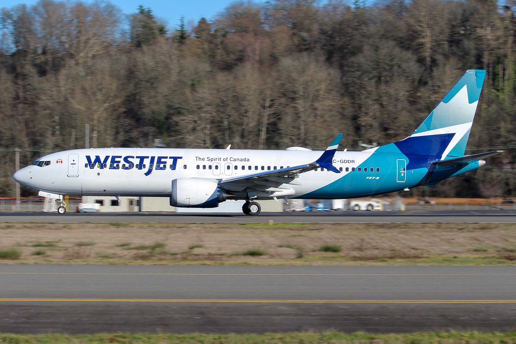 Boeing 737 MAX 8, WestJet Airlines, C-GDDR, LN7360