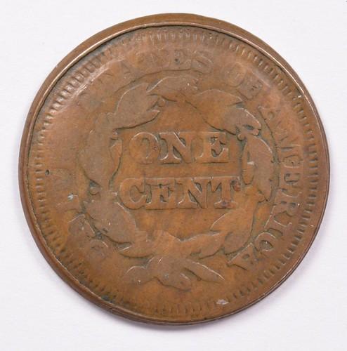 1851 large cent error reverse | by Numismatic Bibliomania Society