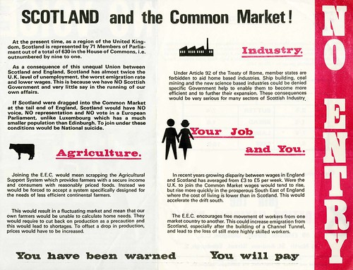No Voice.  No Entry.  SNP  Common Market leaflet.  c.1968 | by Scottish Political Archive