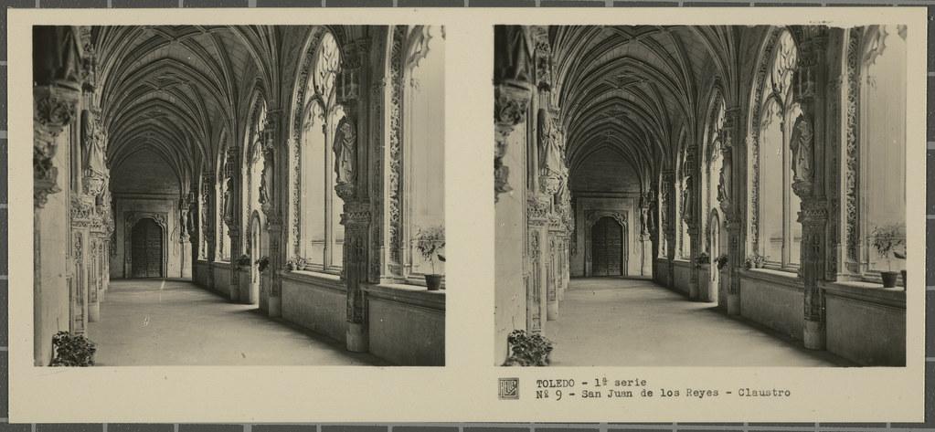 Claustro de San Juan de los Reyes. Colección de fotografía estereoscópica Rellev © Ajuntament de Girona / Col·lecció Museu del Cinema - Tomàs Mallol