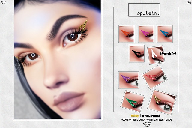 Opulein - Kitty Eyeliners for CATWA