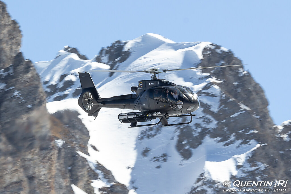 Eurocopter EC 130B4 F-HAGK Azur Helicopters Fly Courchevel Canon Sigma France French Airshow TV photography Airshow Meeting Aerien 2019