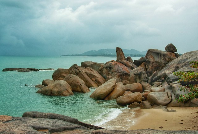 View of Grandfather's Rock, Koh Samui, Thailand