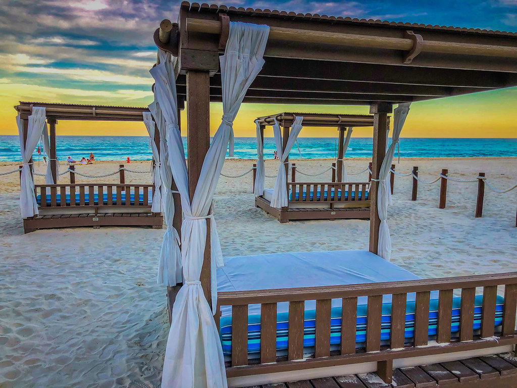 Cabana On The Beaches Of Cancun Mexico At Sunset Cabana On Flickr