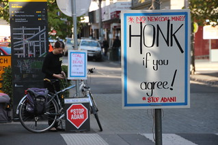 No New Coal mines! Honk if you agree - ARRCC Funeral for Coal at Moonee Ponds - IMG_4456 | by John Englart (Takver)