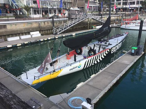 This is New Zealand's entry into the America's cup race next year! In the Auckland Harbor. | by Jamesfc