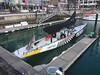 This is New Zealand's entry into the America's cup race next year! In the Auckland Harbor.
