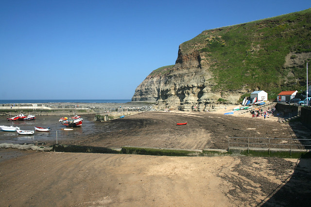 The beach at Staithes