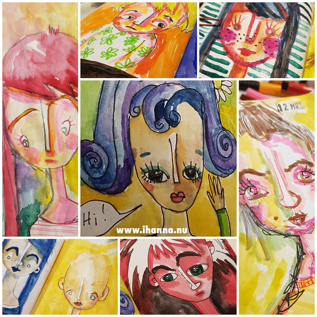Some of the March portraits painted by iHanna
