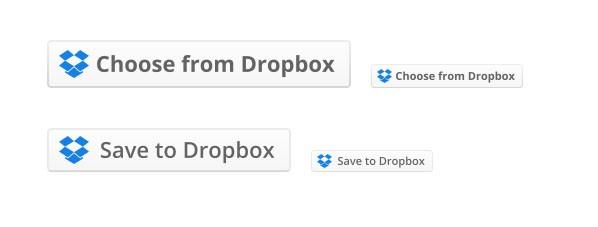 Dropbox buttons