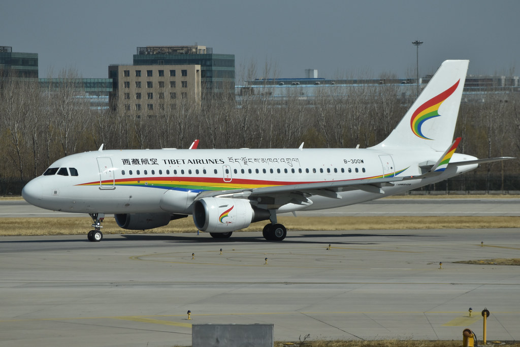Airbus A319-115 'B-300W' Tibet Airlines