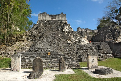 Part Of The North Acropolis, Tikal Ancient Mayan Site