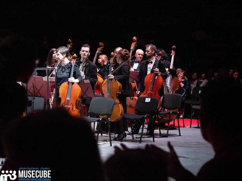 Российская Федерация, Санкт-Петербург, М1-Арена, открытие цикла  концертов  под названием «Музыка радости»,  маэстро Александр Канторов и оркестр «Классика».
