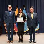 Fri, 03/29/2019 - 14:38 - On Friday, March 29, 2019, the William J. Perry Center for Hemispheric Defense Studies hosted a graduation ceremony for two courses: 'Strategic Implications of Human Rights and Rule of Law' and 'Combating Transnational Threat Networks.' Students from all over the Americas attended the courses from March 18-29, 2019. The graduation ceremony and reception took place in Lincoln Hall at the National Defense University's North Campus at Fort McNair in Washington, DC.