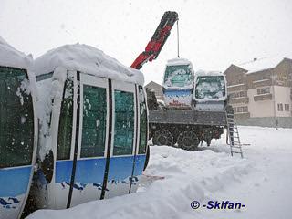 Les cabines qui sont pas vendues, sont stockées | by -Skifan-