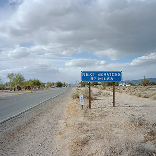 57 miles. mojave desert, ca. 2013.   by eyetwist