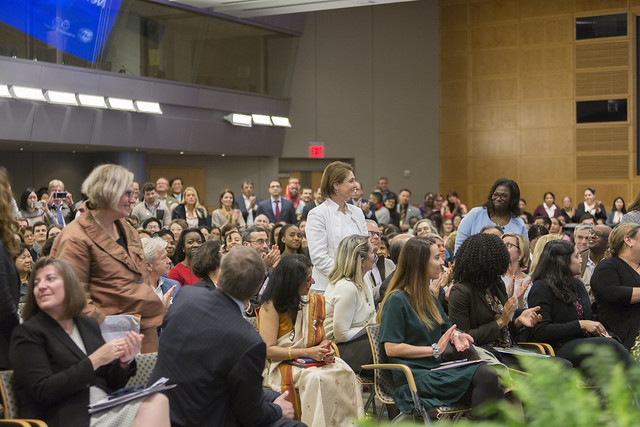 Fri, 03/08/2019 - 16:13 - 030819 - WASHINGTON DC., Managing Director and Chairwoman of the IMF Christine Lagarde and Interim WBG President Kristalina Georgieva engage in a conversation on their pioneering leadership and challenges they and other women have faced, the economic issues they're dealing with and how they prioritize gender both through operations and in walking the talk within the IMF and WBG.  Photo:  World Bank / Simone D. McCourtie