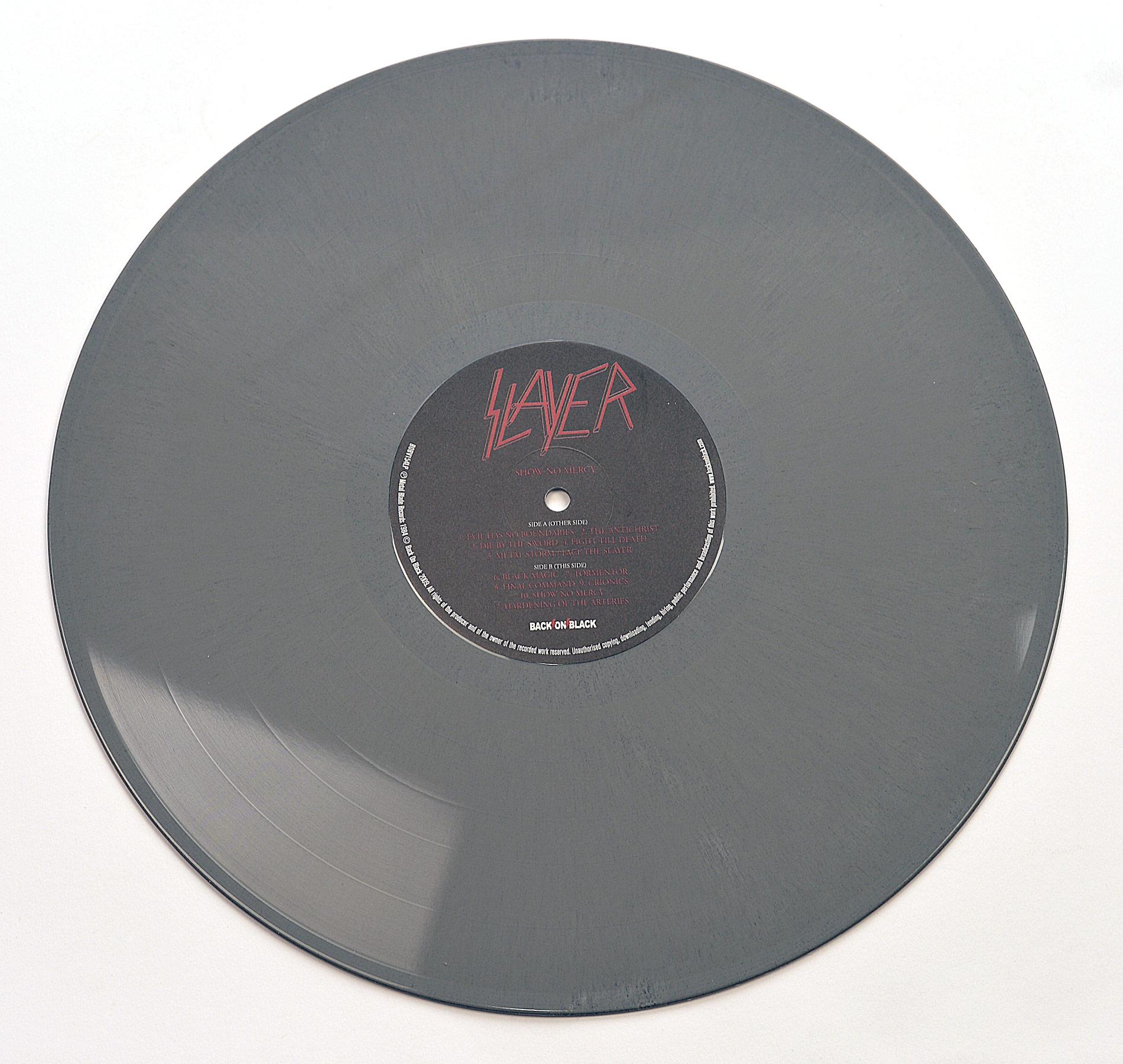 SLAYER Show No Mercy Grey Vinyl