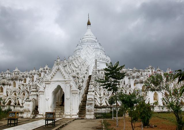 Facade Of Hsinbyume Pagoda, Mingun, Myanmar