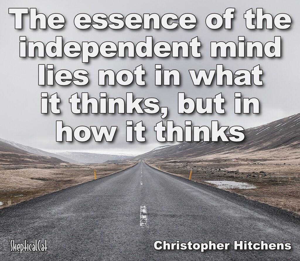 christopher hitchens essence of independant mind