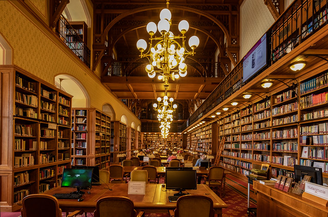Liibrary of the Hungarian Parliament - Budapest