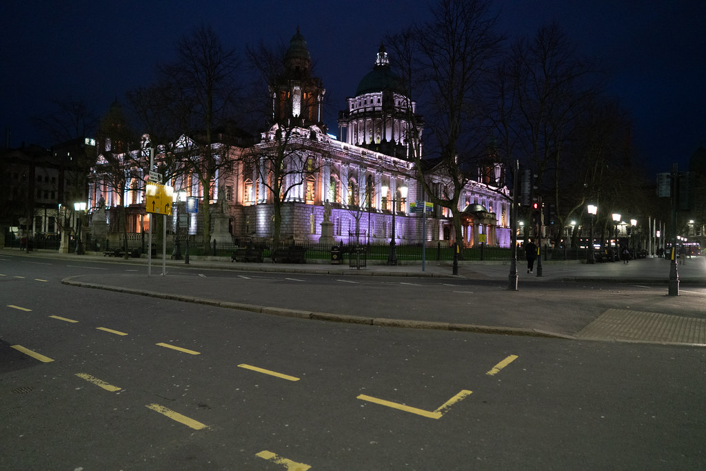 BELFAST CITY HALL AT NIGHT 014