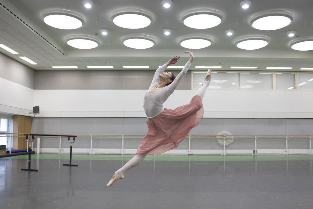 Fumi Kaneko in rehearsal for Don Quixote, The Royal Ballet © 2019 ROH. Photograph by Andrej Uspenski