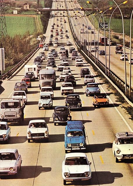 Postcard Autoroute du Sud Années 70a