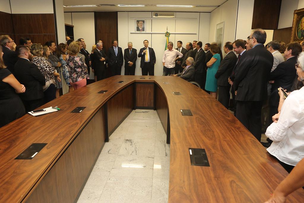 20/12/2018. Brasília-DF. Ministro Gilberto Kassab participa de cerimônia de aposição de retrato na galeria de ministros da Ciência, Tecnologia, Inovações e Comunicações. Foto: Ricardo Fonseca/MCTIC.