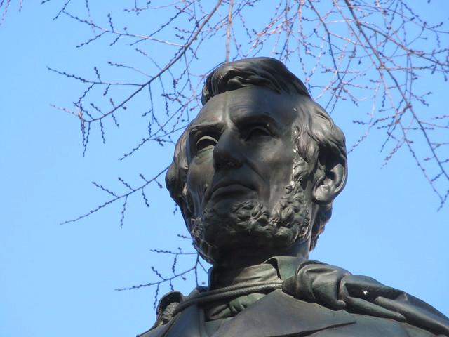 President Abraham Lincoln Bronze statue Union Square Park 1544