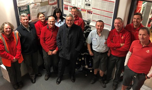 Visiting Royal Mail's North Berwick delivery office   by Iain Gray MSP