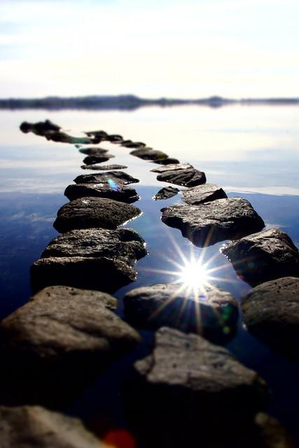 Take a long walk down a short . .  erm line of stones