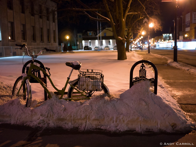 Bicycle, winter