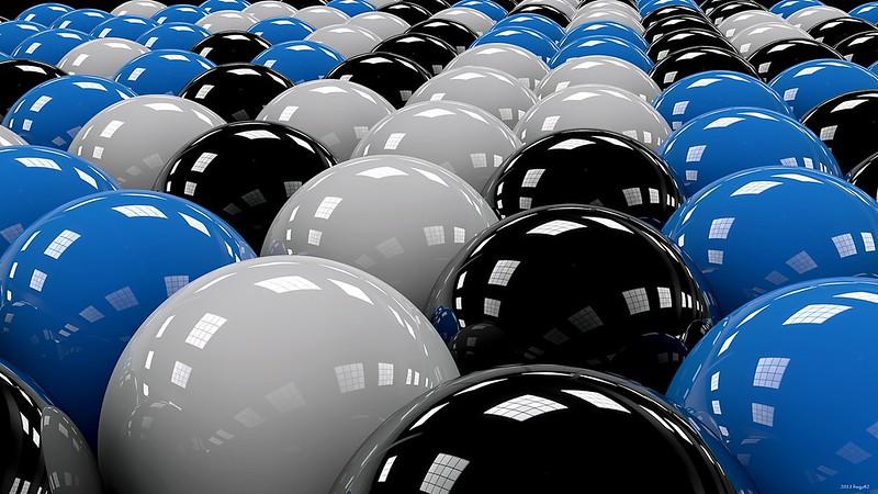 Обои шары, ряды, белый, голубой, чёрный картинки на рабочий стол, фото скачать бесплатно