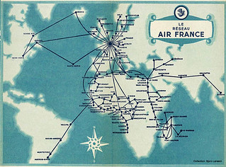 transportation air france map 1947 feb | by pqgw
