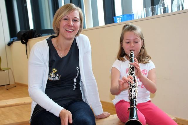 Musikverein Weiler auf Besuch in der Volksschule