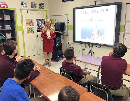 Career Day at Saint Leo the Great School   by Clerk Christine Giordano Hanlon